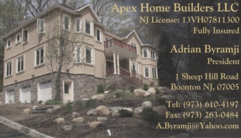 Adrian&nbsp;Byramji - Apex Home Builders, LLC | GENERAL CONTRACTOR<br>HANDYMAN<br>BUILDER