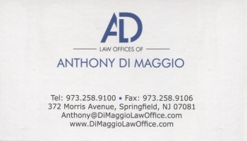 Anthony Di Maggio - The Law Offices of Anthony Di Maggio, LLC | ATTORNEY AT LAW<BR>REAL ESTATE