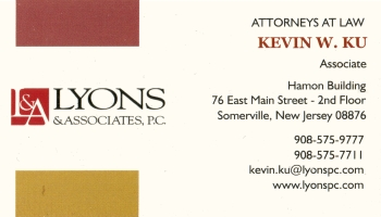 Kevin Ku - Townsend, Tomaio & Newmark, L.L.C. | ATTORNEY AT LAW<BR>FAMILY LAW