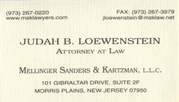 Judah B. Loewenstein - Mellinger Sanders & Kartzman. LLC | ATTORNEY AT LAW<BR>BANKRUPTCY