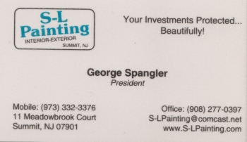 George Spangler - S-L Painting | INTERIOR & EXTERIOR PAINTING